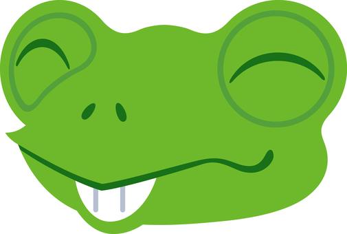 Frog facial expression smiling