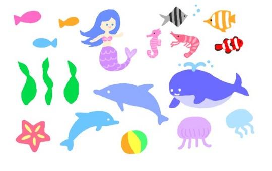바다 생물 세트
