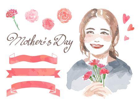 母の日の母と素材のセット