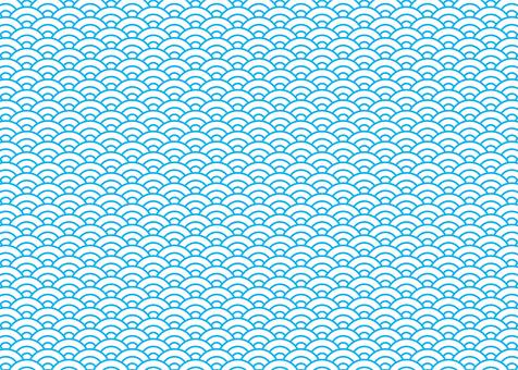 Wave pattern Pattern Blue (2)