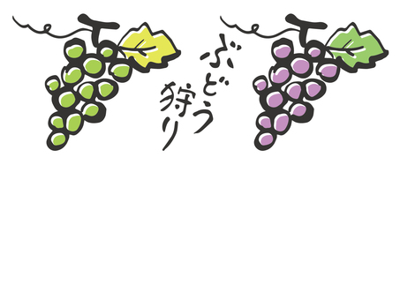 Grape material Japanese style 2