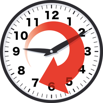 Time lapse time clock schedule