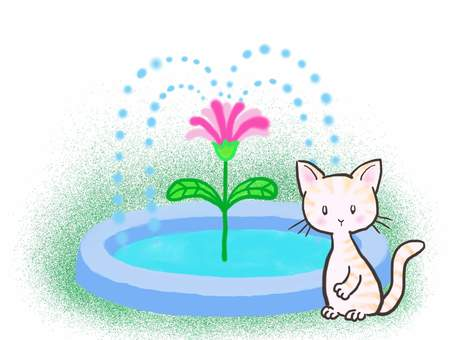 Fountain cat 2