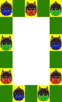 Demon's face frame
