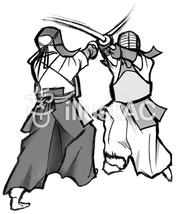 剣道_稽古のイラスト