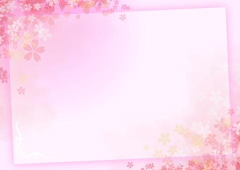 부드러운 핑크 꽃 프레임