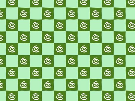 Guruguru Ippuri checker (green)