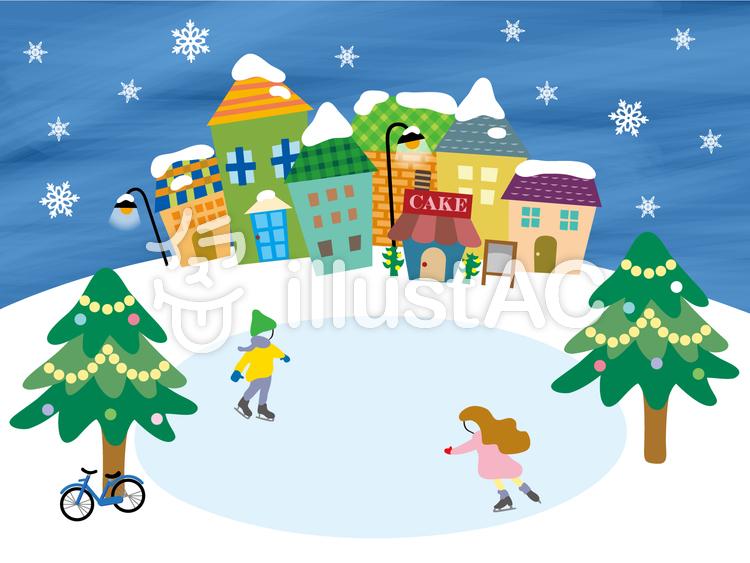 冬のまちスケートイラスト No 983479無料イラストならイラストac