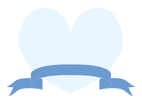 White Heart and Blue Ribbon