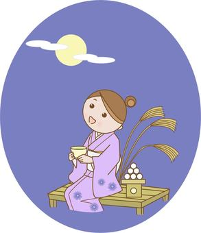A woman who sees the moon