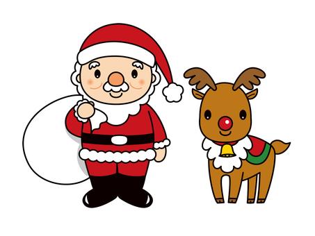 サンタクロースとトナカイ クリスマス