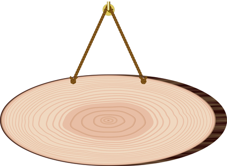 Wooden door plate round log frame