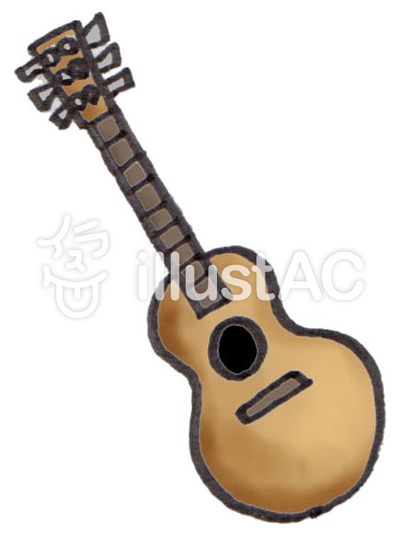 アコースティックギター 可愛いイラストイラスト No 1166001無料