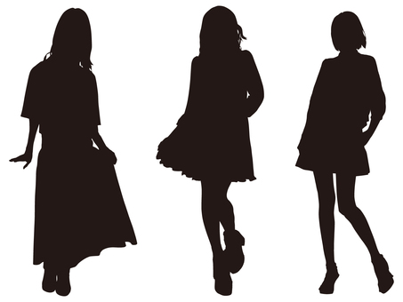 Female silhouette (Fashion 014)