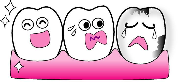 Cheerful teeth and caries