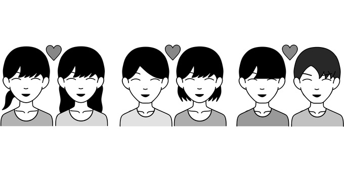 커플 (흑백)