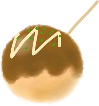Takoyaki with toothpick
