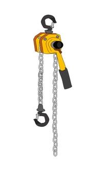 Small chain lever hoist
