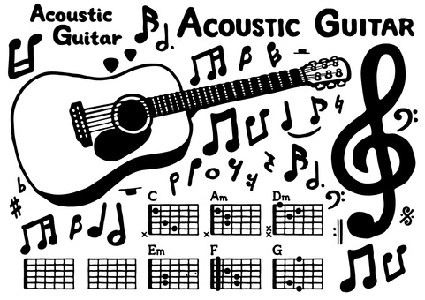 Acoustic guitar set 1