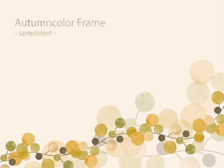 Fall color frame ver78