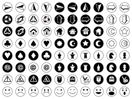 Icon Various No 3 (black & white)