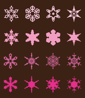Various snow crystals [3]