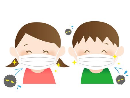 マスクをした子供2