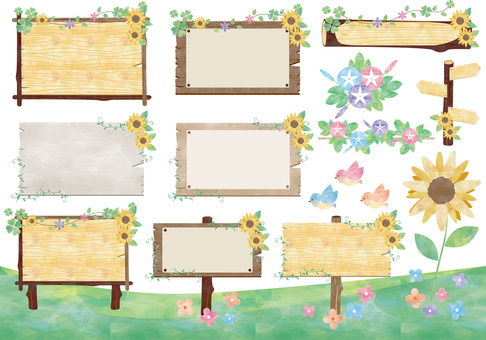 Summer_Natural_ bulletin board_ assembly