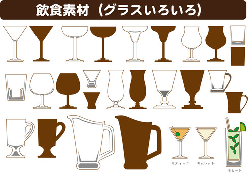 Material (glass, cocktail, etc.)
