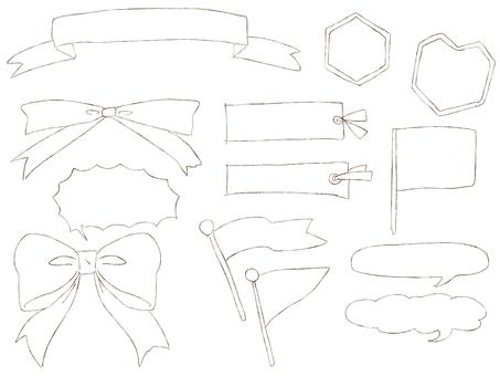Hand-drawn material