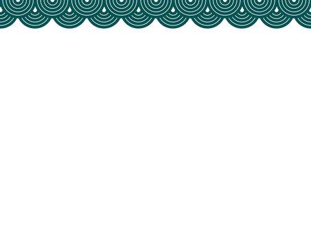 Japanese frame Qinghai wave 3 green