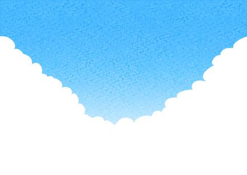 Watercolor Blue Sky Simple