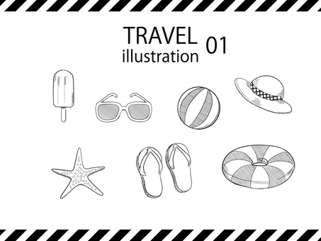 Travel illustration set 01