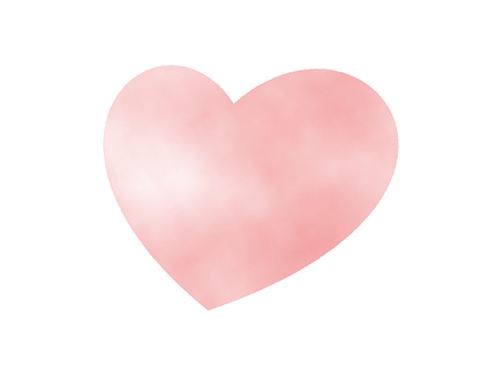 Pink heart (watercolor hand drawn style)
