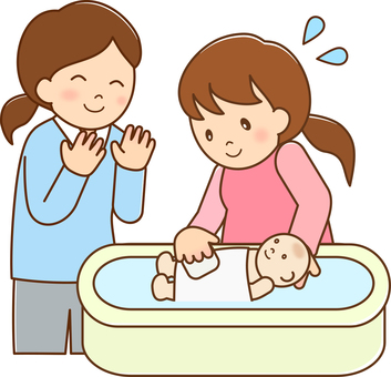 Bathing experience with pregnant women wire
