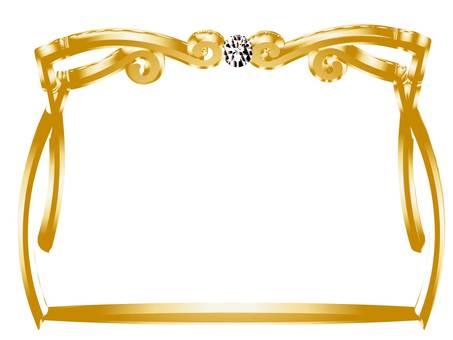 Three-dimensional gold frame