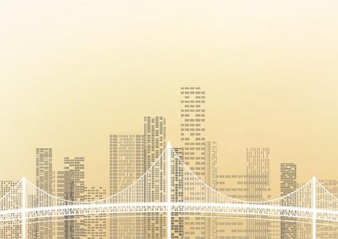 Townscape and Suspension Bridge
