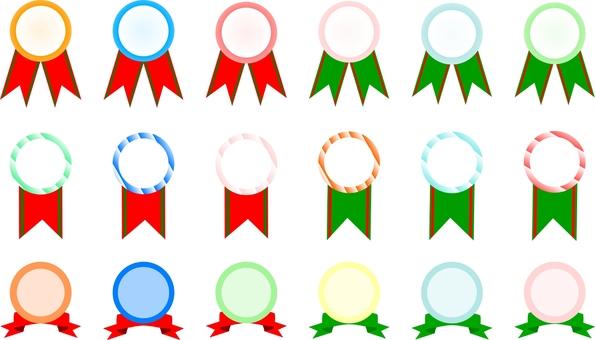 Colorful medal set