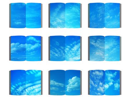 A blue sky book