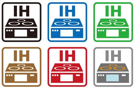 IH cooking heater icon