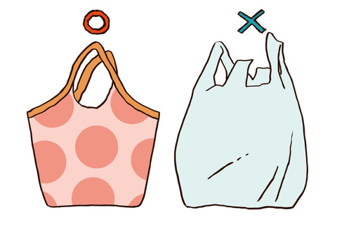 Eco bags and plastic bags 2