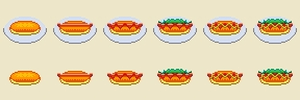 Dot picture hot dog