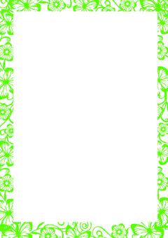 Wallpaper frame green