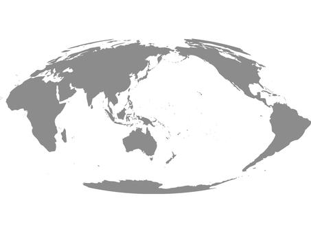 世界地図_シルエット4