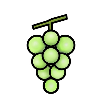 White grape (with outline)