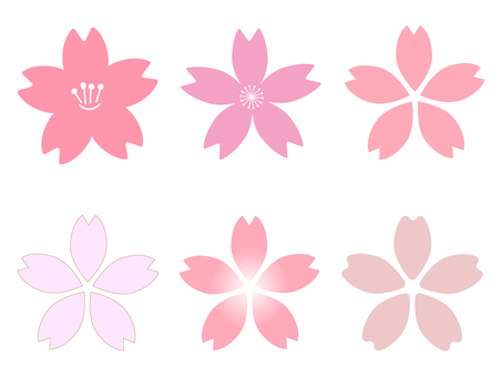 Sakura flower icon set