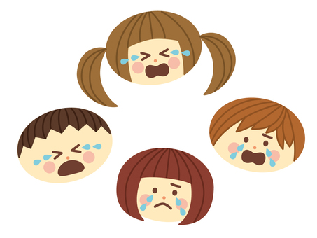 Crying children