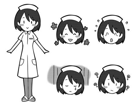 Female 【Nurse】 Black and white