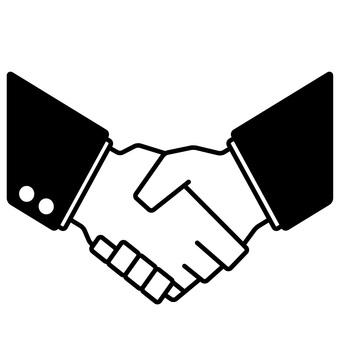 Shake hands silhouette