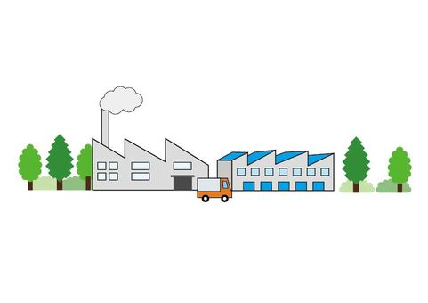 Illustration material of the factory
